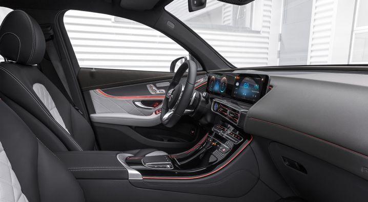 Innenraum des Mercedes EQC