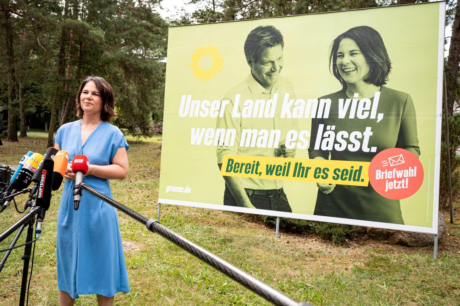 Wahlkampf Grüne Brandenburg mit Baerbock