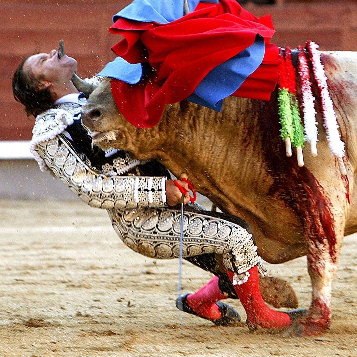 stier spießt matador auf