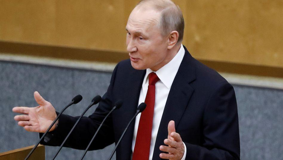 Wladimir Putin: Laut bisheriger Verfassung endet seine letzte mögliche Amtszeit 2024