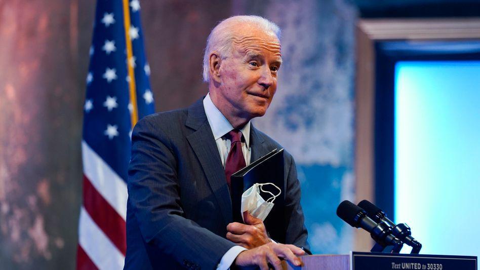 Joe Biden am Wochenende in Wilmington