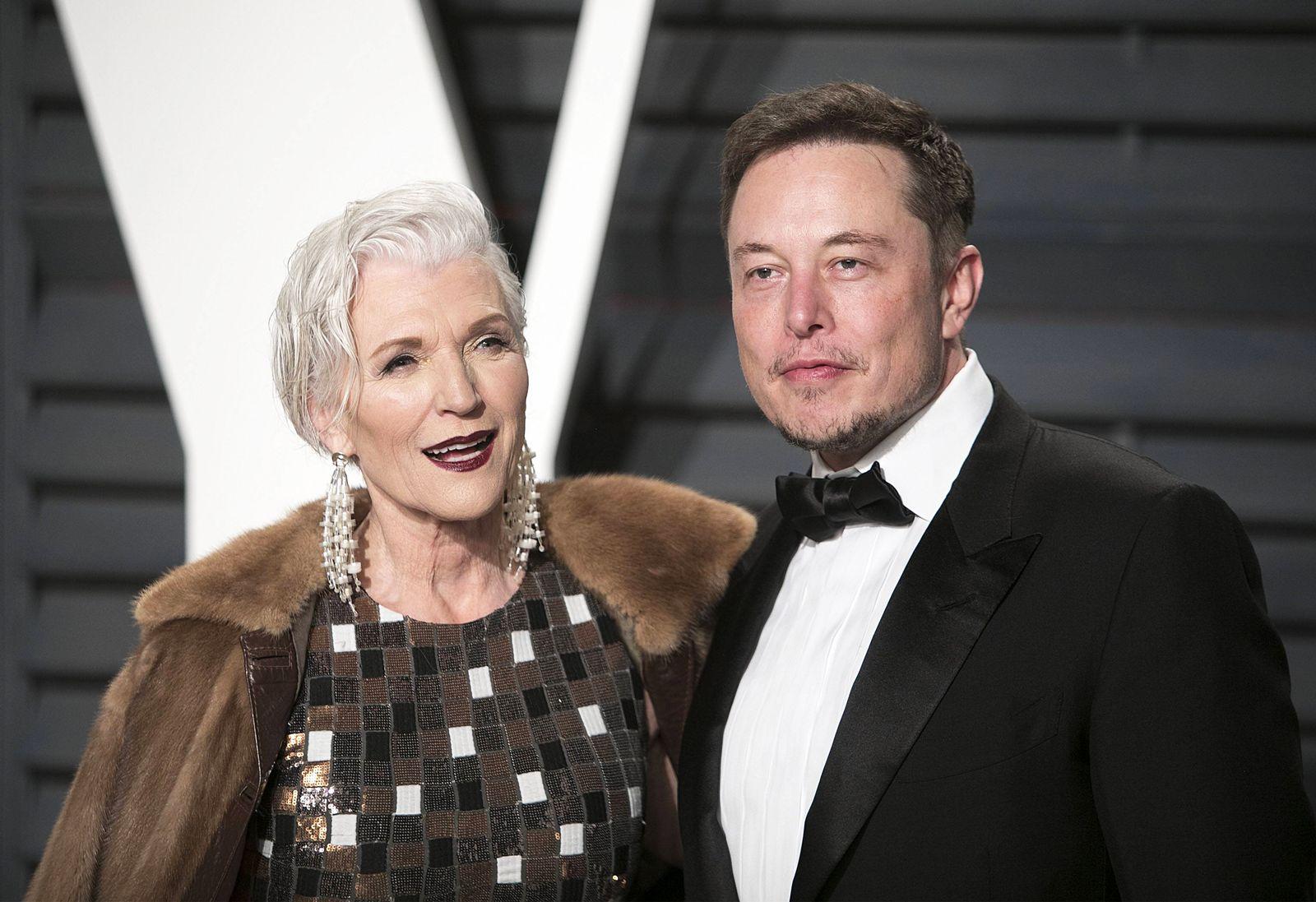 EINMALIGE VERWENDUNG Maye Musk / Elon Musk