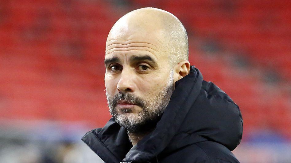 Trainer Pep Guardiola: Mit ihm holte Manchester City nun zum dritten Mal in vier Jahren die englische Meisterschaft