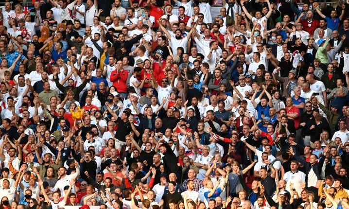 Mehr als 60.00 Fans sahen im Wembley-Stadion in London das EM-Halbfinale