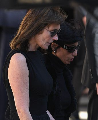 """Cecilia Sarkozy and Rachida Dati attending the funeral of Sarkozy's ex-husband Jacques Martin. The two are firm friends, with the first lady referring to Dati as her """"sister"""""""