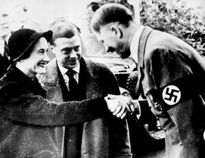 The Duke of Windsor, the great great uncle of Prince Harry, and his wife Wallis Simpson met with Adolf Hitler in 1937.