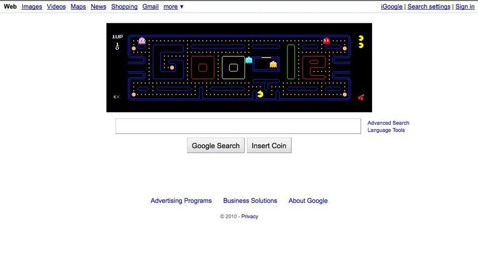 Pac-Man-Spiel auf der Google-Seite: Millionen Arbeitsstunden verdaddelt