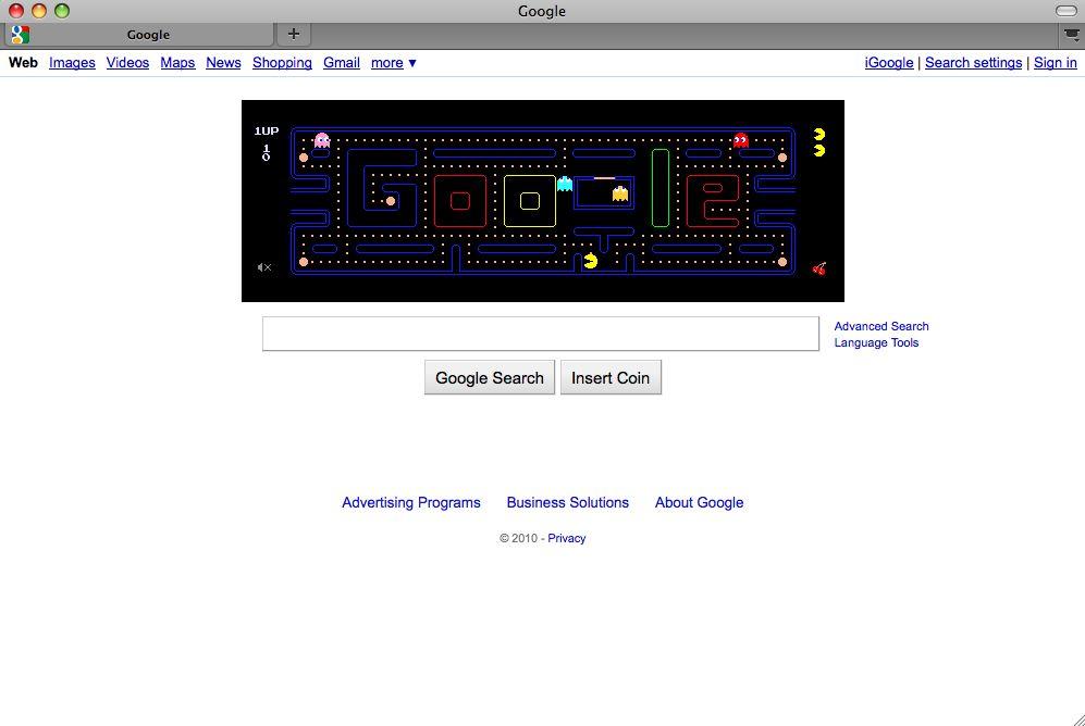 SCREENSHOT Google / Pacman