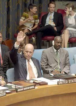 Negroponte: Veto des Uno-Botschafters der USA