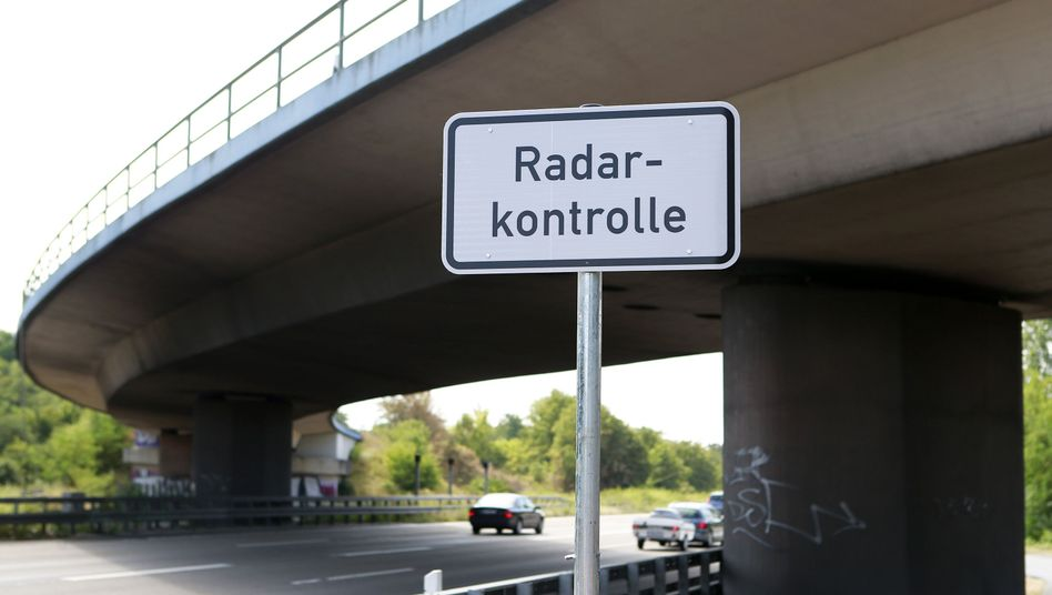 Ein Warnhinweis in Hessen