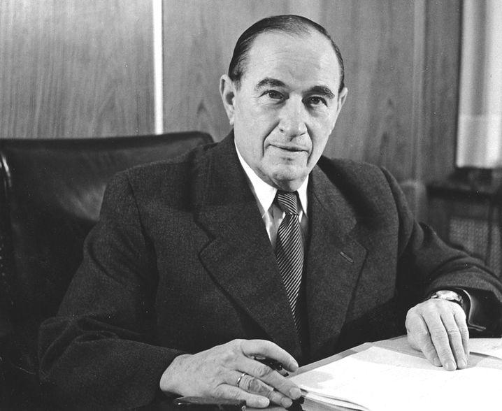 Carl Friedrich Wilhelm Borgward im Jahr 1960