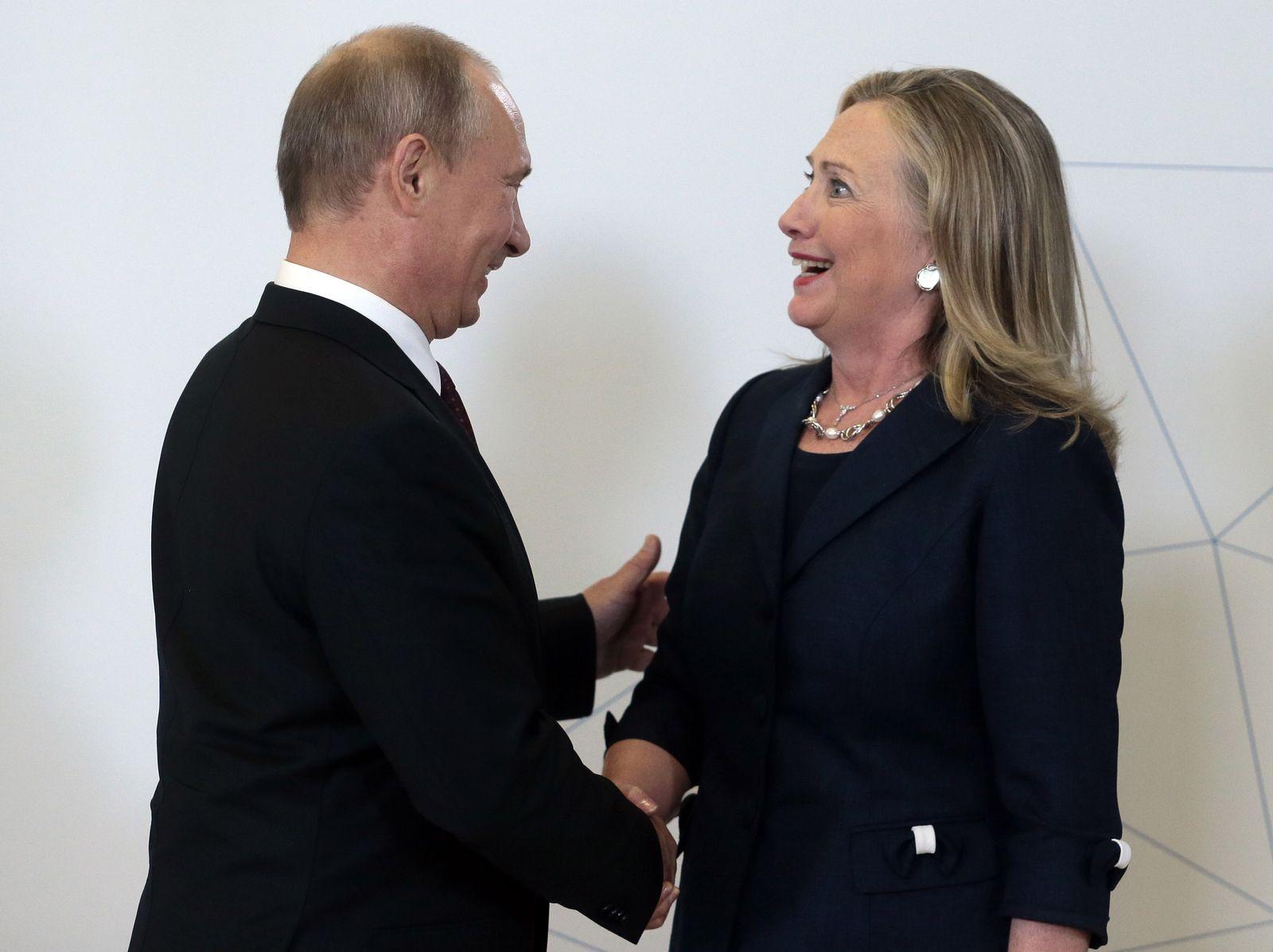 USA / Wahlkampf / Russland / Wladimir Putin / Hillary Clinton