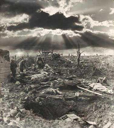 """""""Der Morgen nach der ersten Schlacht von Passchendaele"""": Pathos und Leid des Krieges"""