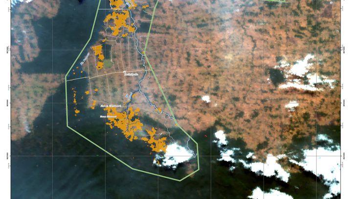 Satellitenbilder: Der Amazonas brennt