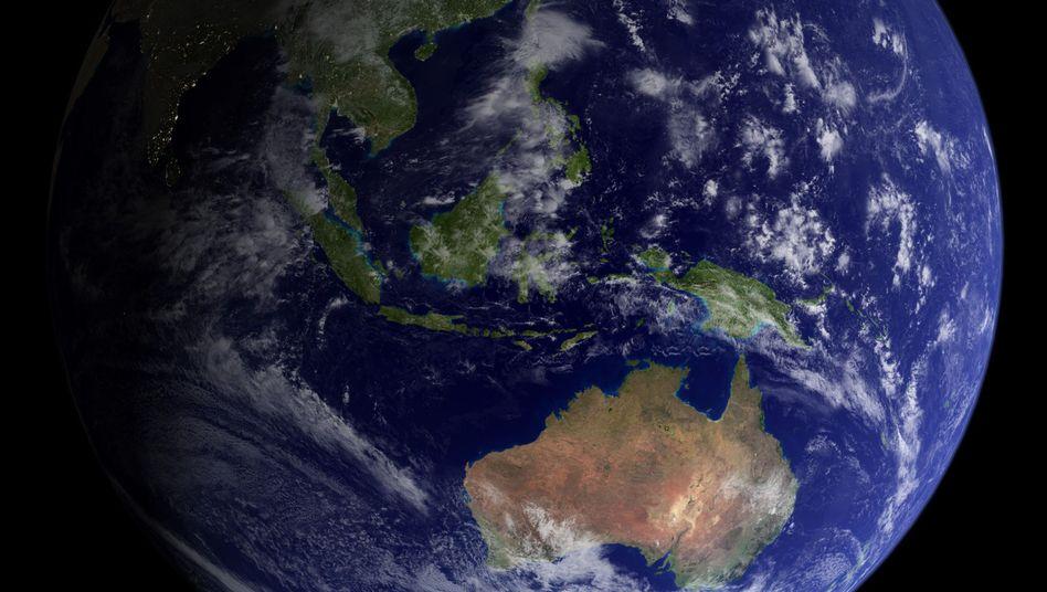 Australischer Kontinent aus dem Weltall