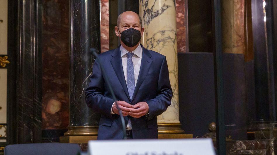 Olaf Scholz in der Hamburger Bürgerschaft – als Gast im Parlamentarischen Untersuchungsausschuss