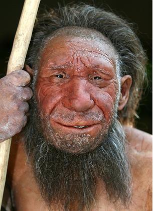 Rekonstruktion eines Neanderthalers: Kultur etabliert eine sprachgezeugte Zwischenwelt