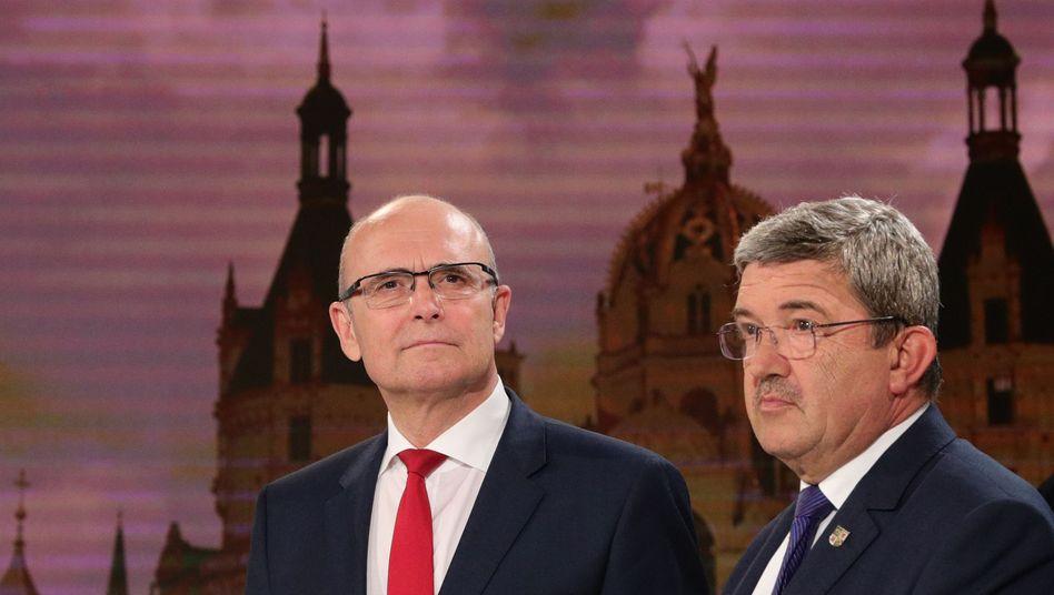 Sellering (SPD) und Caffier (CDU)