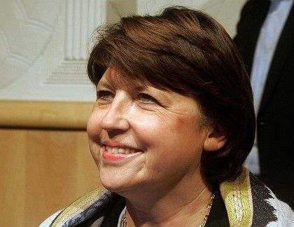 New French Socialist Party Leader Martine Aubry.