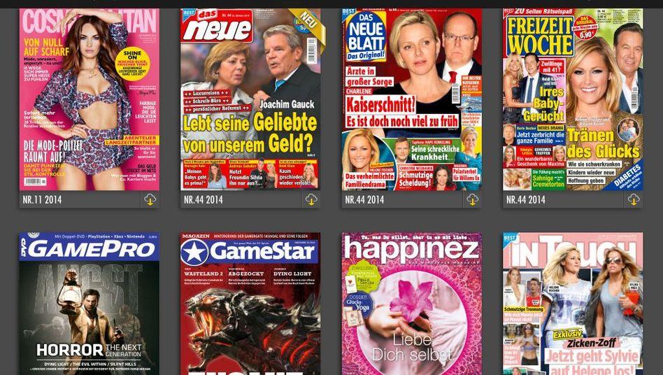 Zeitschriftenangebot von Readly: Viele Frauentitel aus dem Hause Bauer