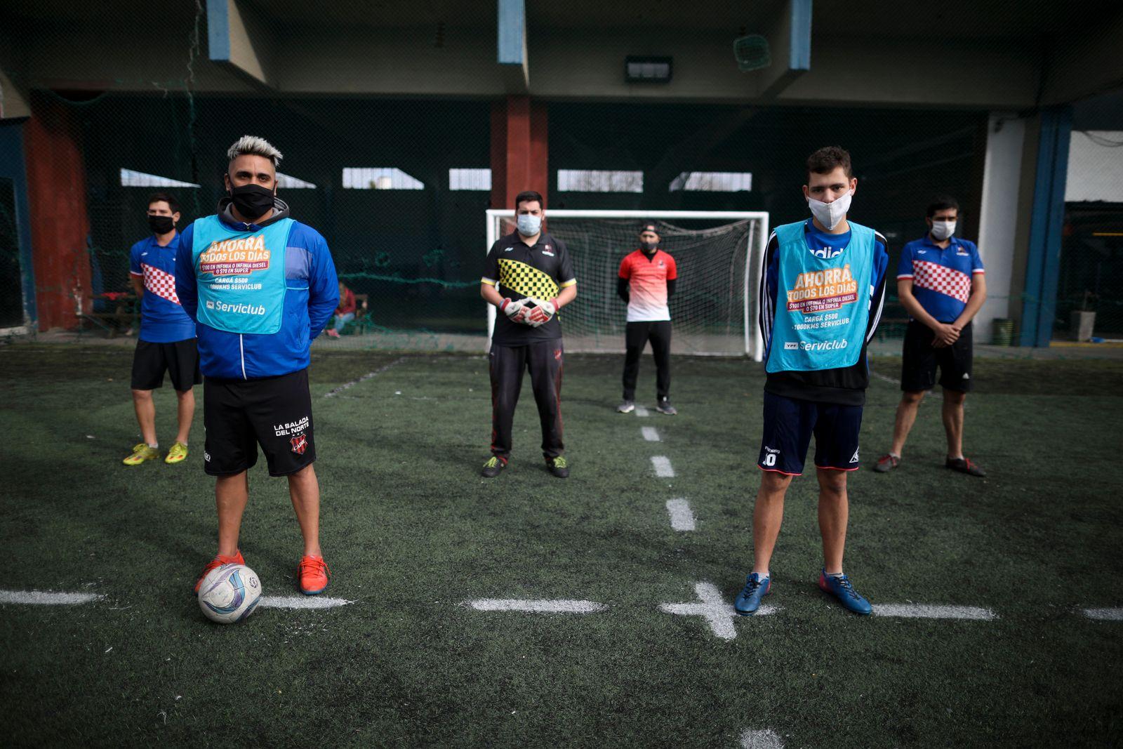 APTOPIX Virus Outbreak Argentina Soccer