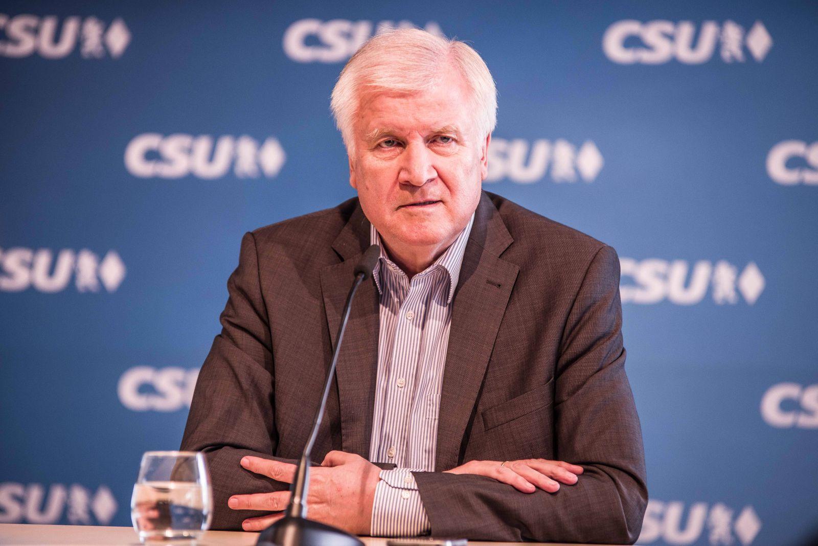 June 18 2018 Munich Bavaria Germany German Interior Minister and head of the Bavarian CSU par