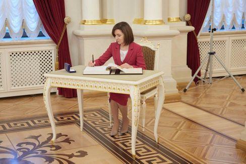 Politikerin Sandu (bei einem Besuch in Kiew)