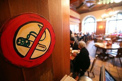 Smoking is banned inside this Munich beer hall -- but for how long?