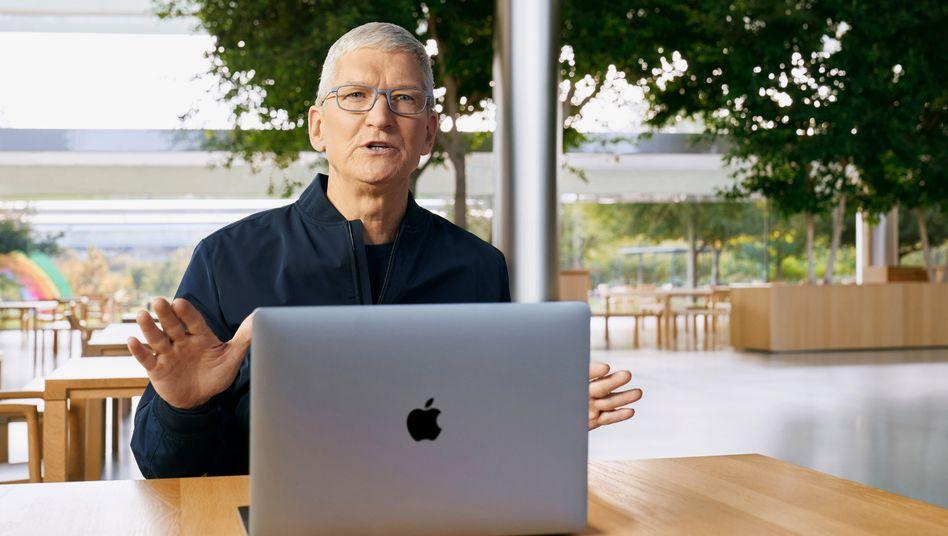 Apple-Chef Tim Cook im November: Verdient 256-mal so viel wie ein normaler Mitarbeiter