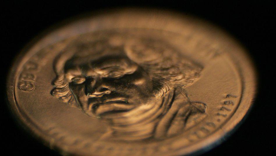 Normale Dollar-Münze: Schon wird diskutiert, was auf der Super-Münze zu sehen sein soll