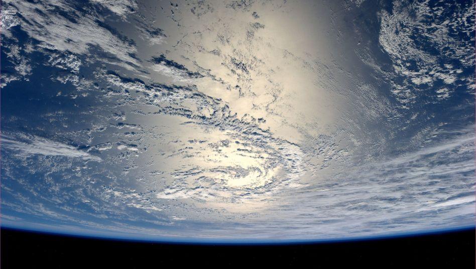 Blick auf die Erde von der ISS