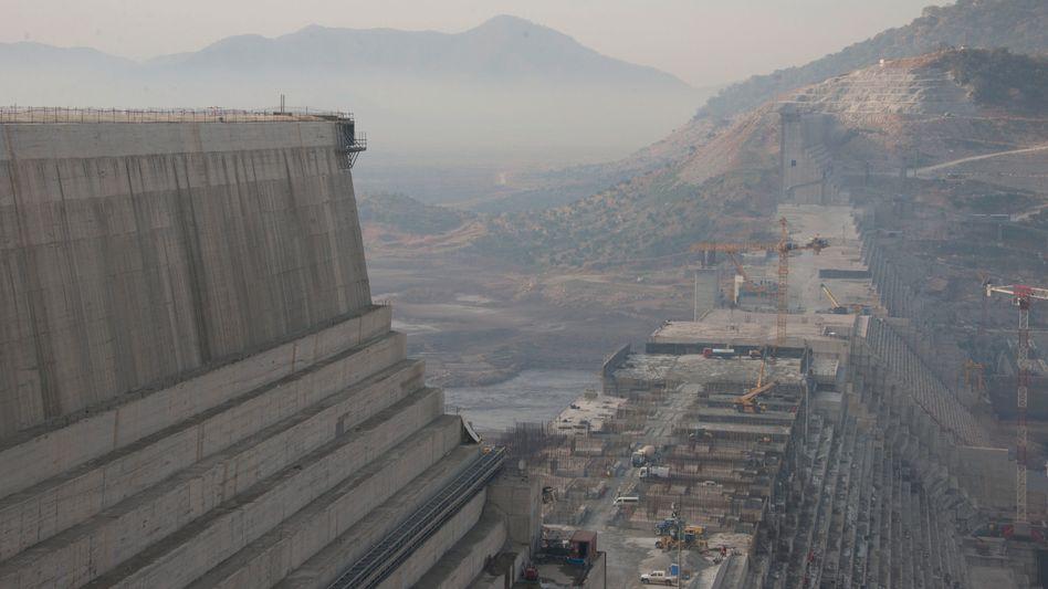 Der »Grand Ethiopian Renaissance Dam« (hier noch im Aufbau im Jahr 2017): Symbol nationalen Stolzes