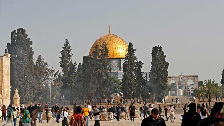 Tempelberg in Jerusalem (am Montag): Hier kommt es seit Tagen zu Krawallen