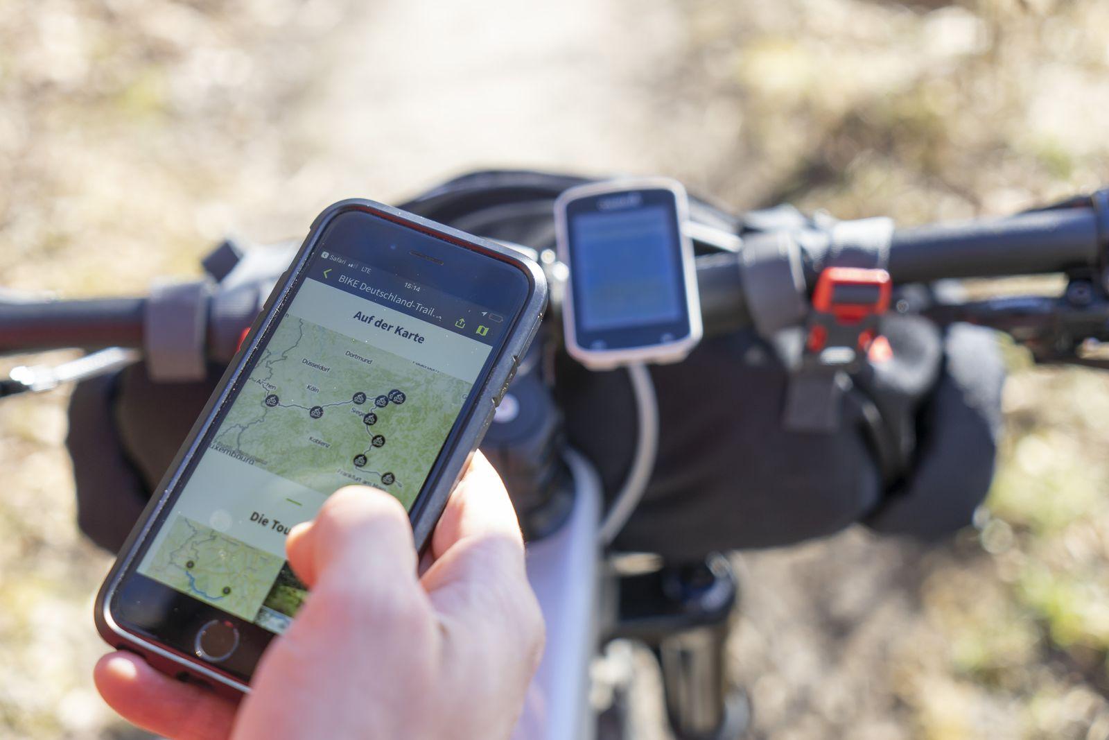 EINMALIGE VERWENDUNG Deutschlandtrail/ Mountainbike