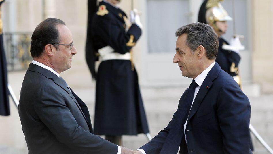 Präsident trifft Ex-Präsidenten: Hollande und Sarkozy sprechen über die Anschläge von Paris