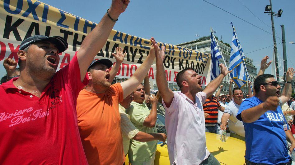 Protest in Athen: Euro-Länder nehmen offenbar Zahlungsausfall in Kauf