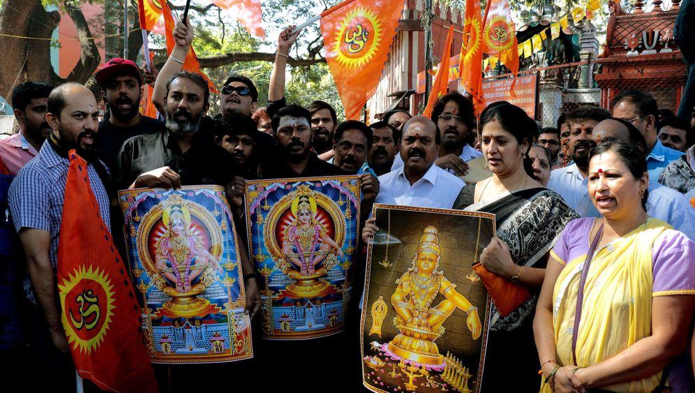 Indien: Hindus protestieren gegen Frauen-Zutrittsrecht