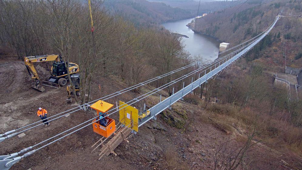 Hängeseilbrücke im Harz: Weltrekord an der Talsperre
