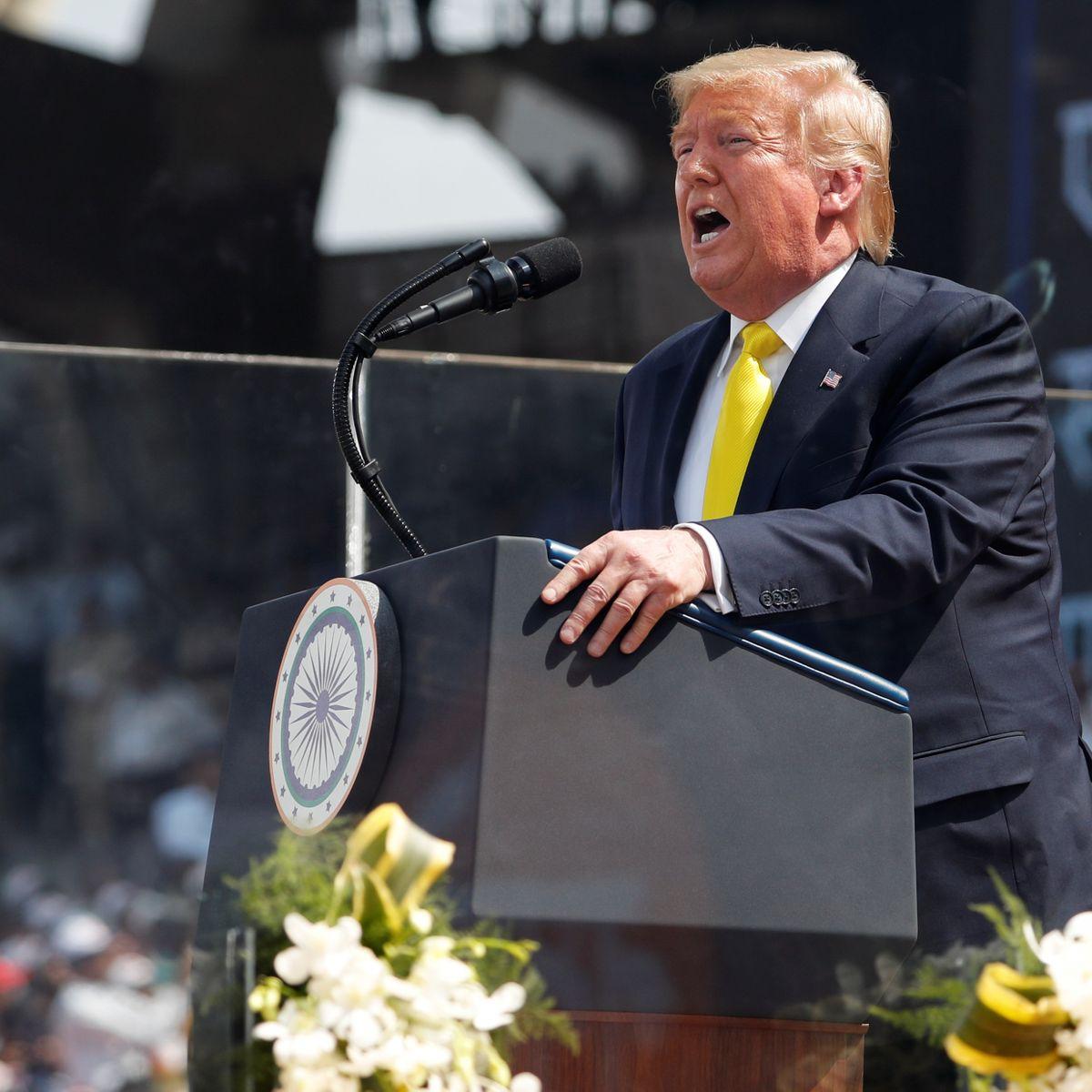 Donald Trump in Indien: Lacher beim Staatsbesuch