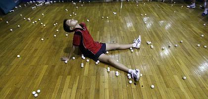 Tischtennisspieler: Bis zur totalen Erschöpfung