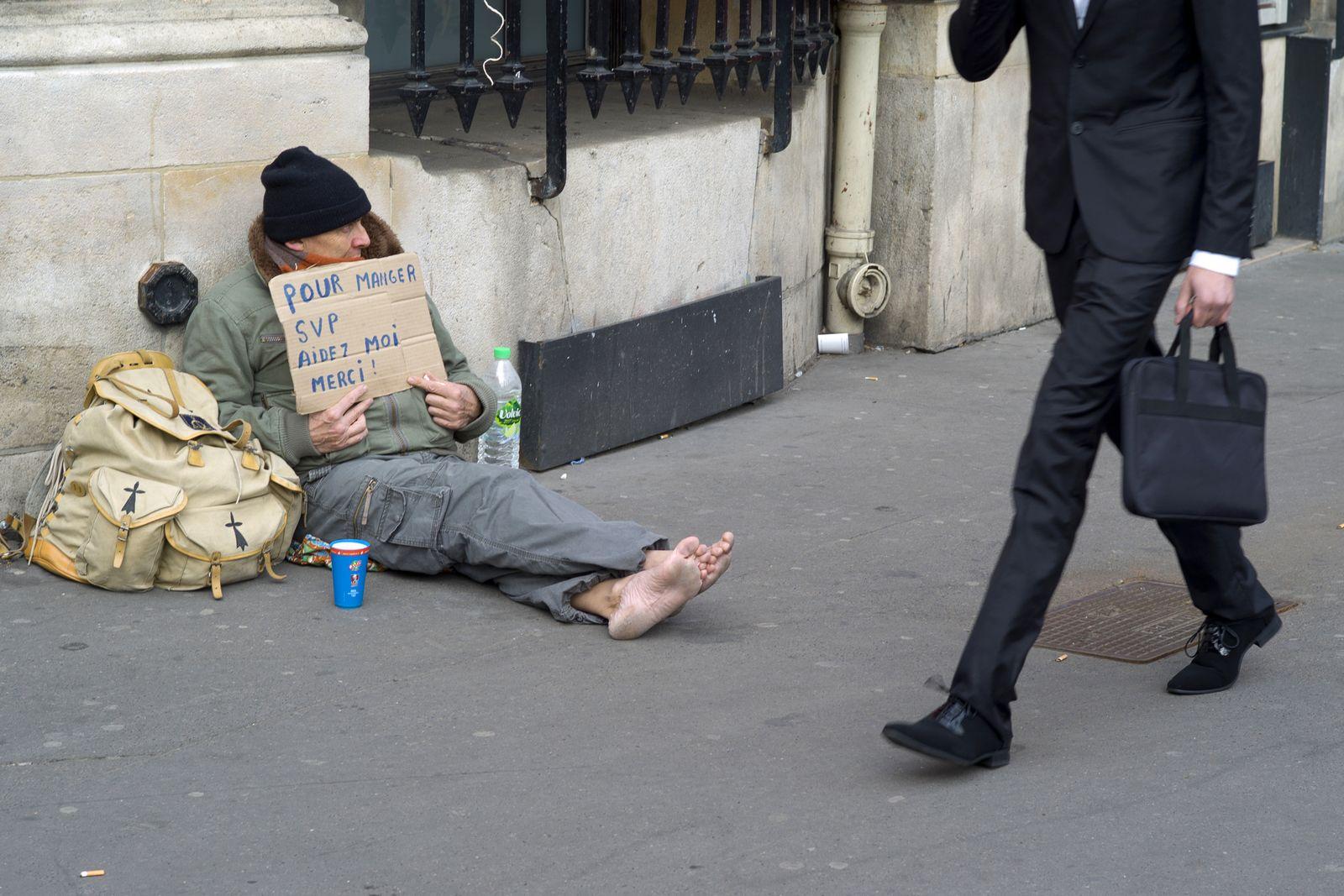 Obdachloser/ Paris