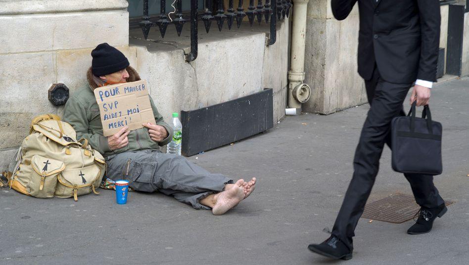 Obdachloser in Paris