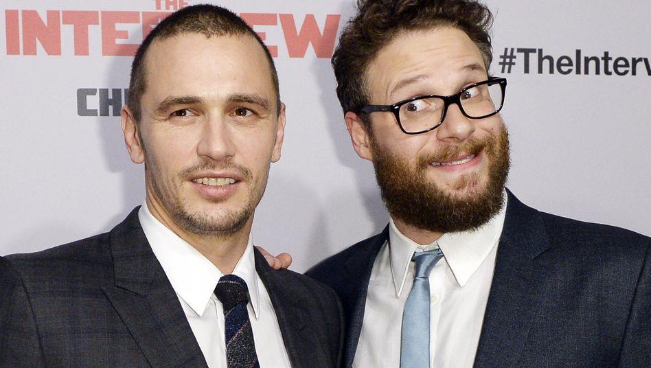 """""""The Interview""""-Darsteller James Franco (l.) und Seth Rogen: Terroropfer?"""