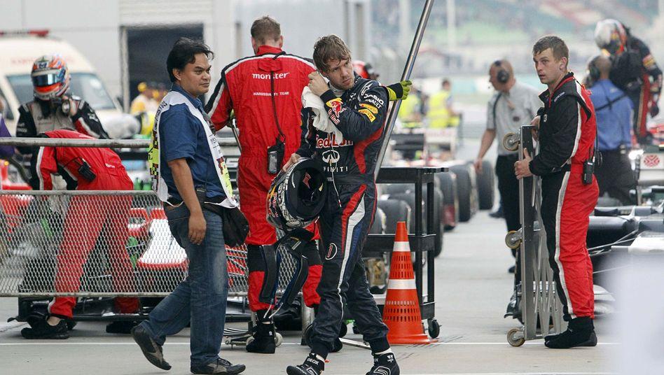 Red-Bull-Fahrer Vettel: Frustration nach Nullnummer