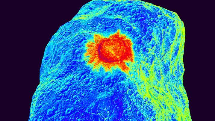 Künstlicher Krater auf Asteroid (Simulation): Studieren geht über Probieren
