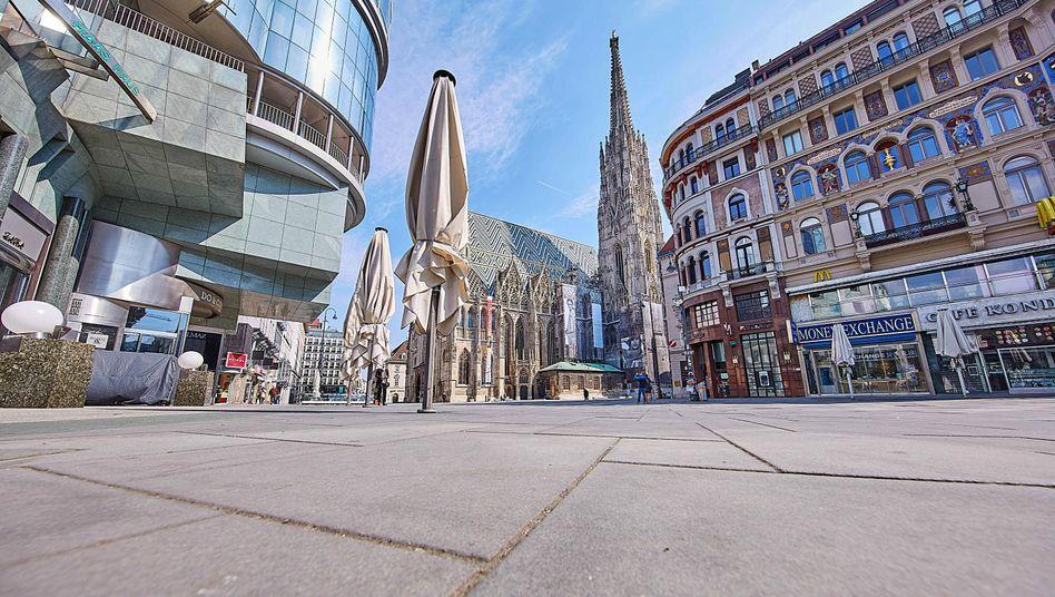 Wiener Innenstadt: Die Coronakrise hat die Arbeitslosenquote stark nach oben getrieben