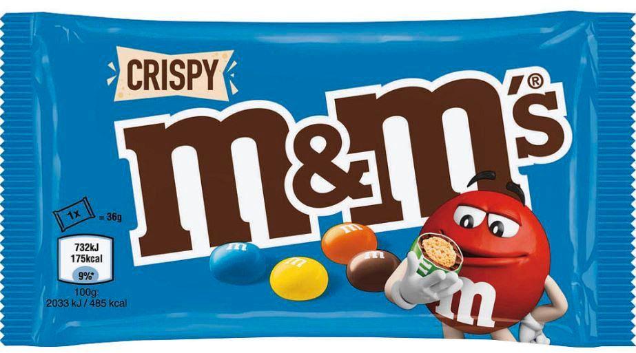 M&M's Crispy: Verschiedene Packungsgrößen sind vom Rückruf betroffen
