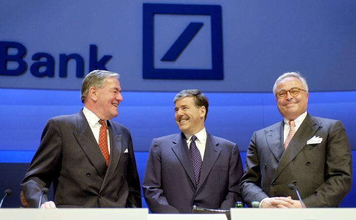 Josef Ackermann (M.) 2002 mit Kopper und Breuer