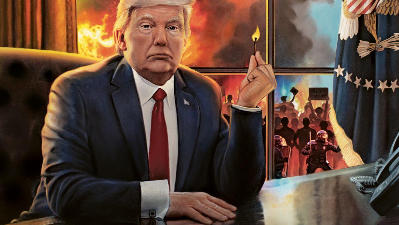 Donald Trump setzt die USA in Brand: Der Feuerteufel – DER SPIEGEL – Politik