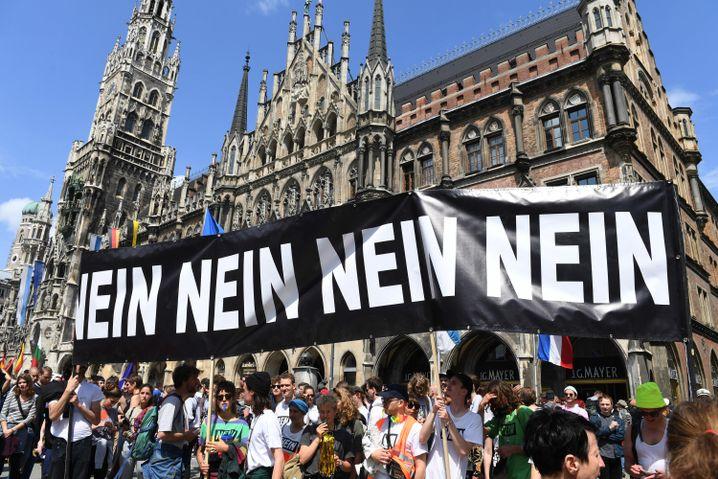 Demonstration gegen Polizeigesetz in München